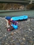 The big blue raft