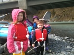 The kids before we raft Portage Creek